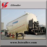 New style steel bulk cement tank truck semi trailer for sale with optional volume