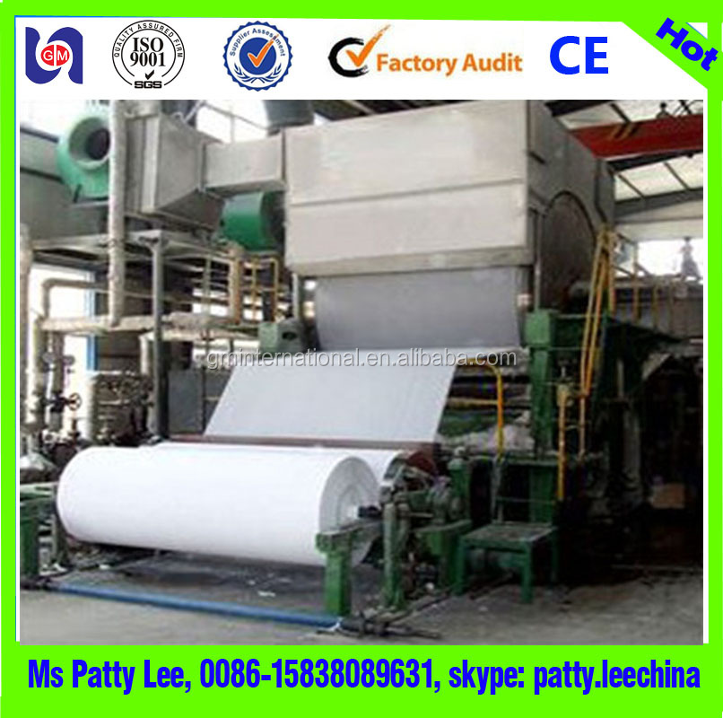 1880mm 5-6T/D capacity toilet tissue paper production line kitchen towel making machine and paper recycling machine prices