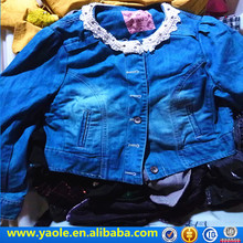 2017 Fashion Lady jacket Jean second hand clothes uk used clothes for sale