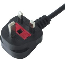 UK ac power cord cable with plug