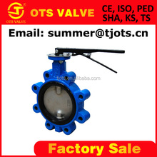 BV-SY-002 wafer lug triple offset butterfly control valve 8 <strong>holes</strong> ANSI class150