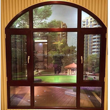 Awning Vinyl Architectural Windows from China Manufacturer Open with a Crank Sash Bay Single Pane Casement Arched Picture Window