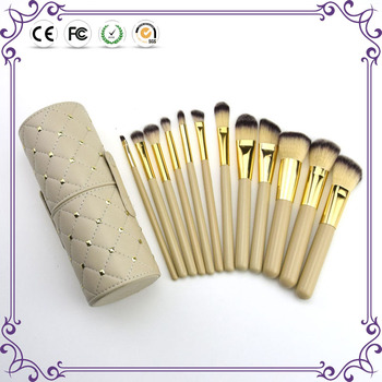 12pcs professional custom makeup brush set cosmetic brush with cylinder box