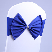 banquet wholesale spandex/polyester lycra sash double sash buckles for banquet chair cover spandex sash