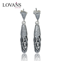 925 Sterling silver top design earring long heavy earrings ER1045