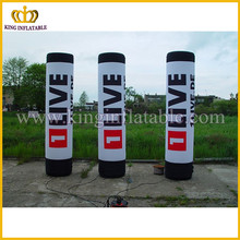 Good quality lowest price inflatable column, inflatable pillar for outdoor events, customized advertising pillar