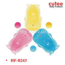 Lovely Baby Bath Tub Transparent Plastic Bathtub For Baby