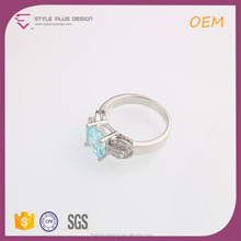 R63494K01 Snap Moonstone New Model Jewelry Created Blue Sapphire Stone Ring 925 Sterling Silver