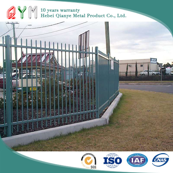 QYM-coated picket weld fence low carbon steel wire Powder Coated