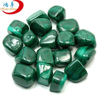 Wholesale malachite tumbled 20mm stones tumbling healing stones