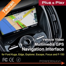 Taiwan Car Video multimedia GPS Navigation Interface for Kuga, Edge, Explorer, Escape, Focus with Plug & Play