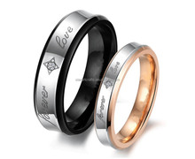 Hot sale Romantic Couple Rings Valentine's Gift Stainless Steel Rings for Forever Love Ring Jewelry