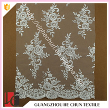 HC-9660-1 Hechun 2016 Latest Classic Pattern Guipure Lace Fabric Stores in China