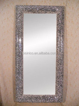 Modern decorative full length wall mounted dressing mirror with glass mosaic frame bf02 m279 - Full length decorative wall mirrors ...