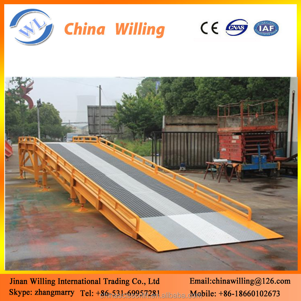 Warehouse/Container Loading Mobile Hydraulic Dock Leveler/Dock Yard Ramp