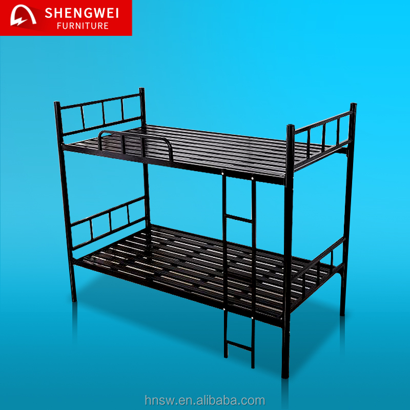 2017 cheap simple latest double bed design furniture child steel bed for sale