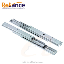 Short Ball Bearing Mini Drawer Slides For Shallow Drawer Zinc Plated