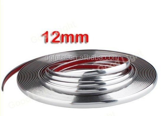 High Flexible Car Chrome Silver Trim Auto Body Molding
