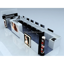 Hair salon furniture and hair cutting counter barber shop stands for sale