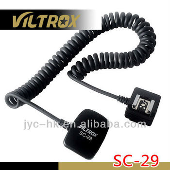 Chinese Supplier Viltrox SC-29 1.5 m long scalable TTL Flash cord for Wholesale or Trade Business