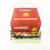 TTAN0098 al fakher red box 80pcs 33mm quick charcoal tablets one carton for shisha hookah incense hot sell to dubai