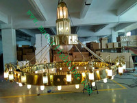 hotel project chapel mosque big chandelier made in China