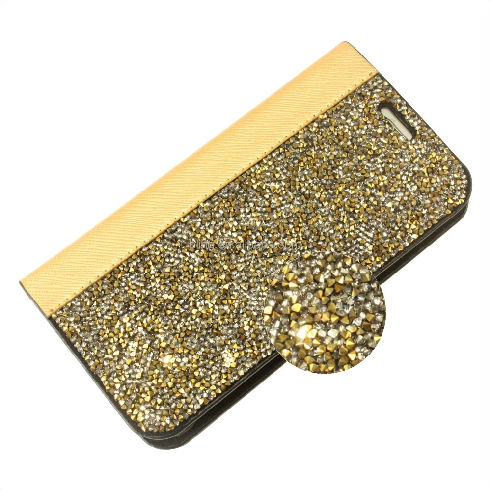 Manufacturers in china luxury Pu Leather Wallet Case For Iphone 5 For apple iphone 5s Wallet Case 5g diamond Wallet Case