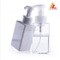 400ml square PETG plastic foam pump packing bottle