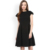 Woman Black Fit and Flare Dress