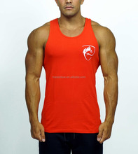 Slim Fit Tank Top Men Gym Stringer Vest Wholesale Fitness Clothing 95% Cotton 5% Spandex Muscle Bodybuilding Tank Top