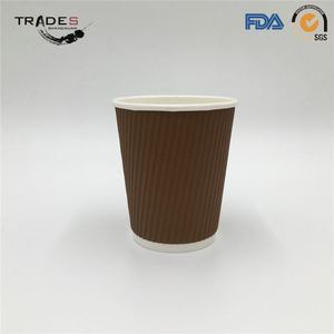 New Stylest Double Ripple Wall Paper Wholesale Coffee Cups