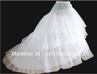 MOON BUNNY Good price and quality Wedding Gown Train Crinoline Underskirt 3-Layers petticoat Wholesale MOQ 1set