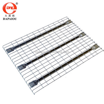 Galvanized Heavy Duty Wire Mesh Decking Shelf With Wire Desk