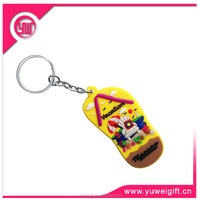 Promotional 3D soft pvc Key chain popular rubber Key tags 3d Animal Keychains