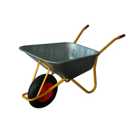 China factory deep tray galvanized wheelbarrow