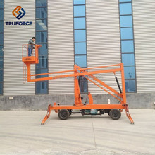 crank arm simple boom lift 8-20m hydraulic one man lift for sale