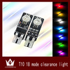 New t10 colorful and flash car led lamp, car led width lamp