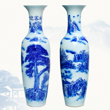 Traditional big tall Chinese Ceramic floor Vase