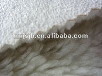 polyester sherpa fleece fabric for winter clothes