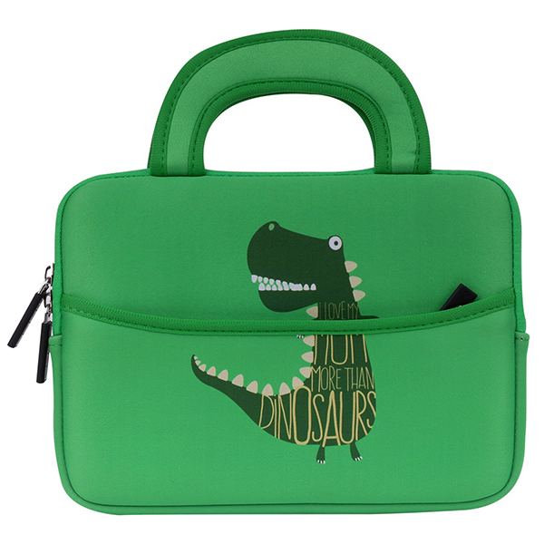 Professional factory customize high quality custom kid tablet sleeve cute dinosaurs carrying sleeve case