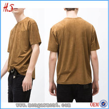 New Style Faux Suede T Shirt Wholesale China For Online Shopping Of Latest Apparel With Round Neck