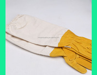 2016 New sheepskin Beekeepers Gloves 50cm Chinese Honey Bee Protective Gloves