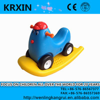 double use car plastic ride on animal toy lovely chicken rocking horse rocking toy for small kids