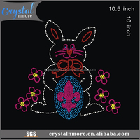 Easter Bunny Hot Fix Rhinestone Transfer Design
