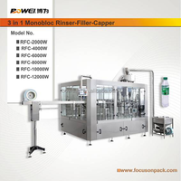 3 in 1 Mineral Water Rinser Filler Capper Machine