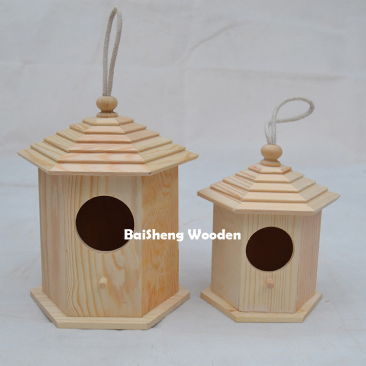 China hot sale wooden bird house custom wooden bird cages