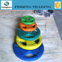 Colorful Rubber coated weight plates for weightlifting