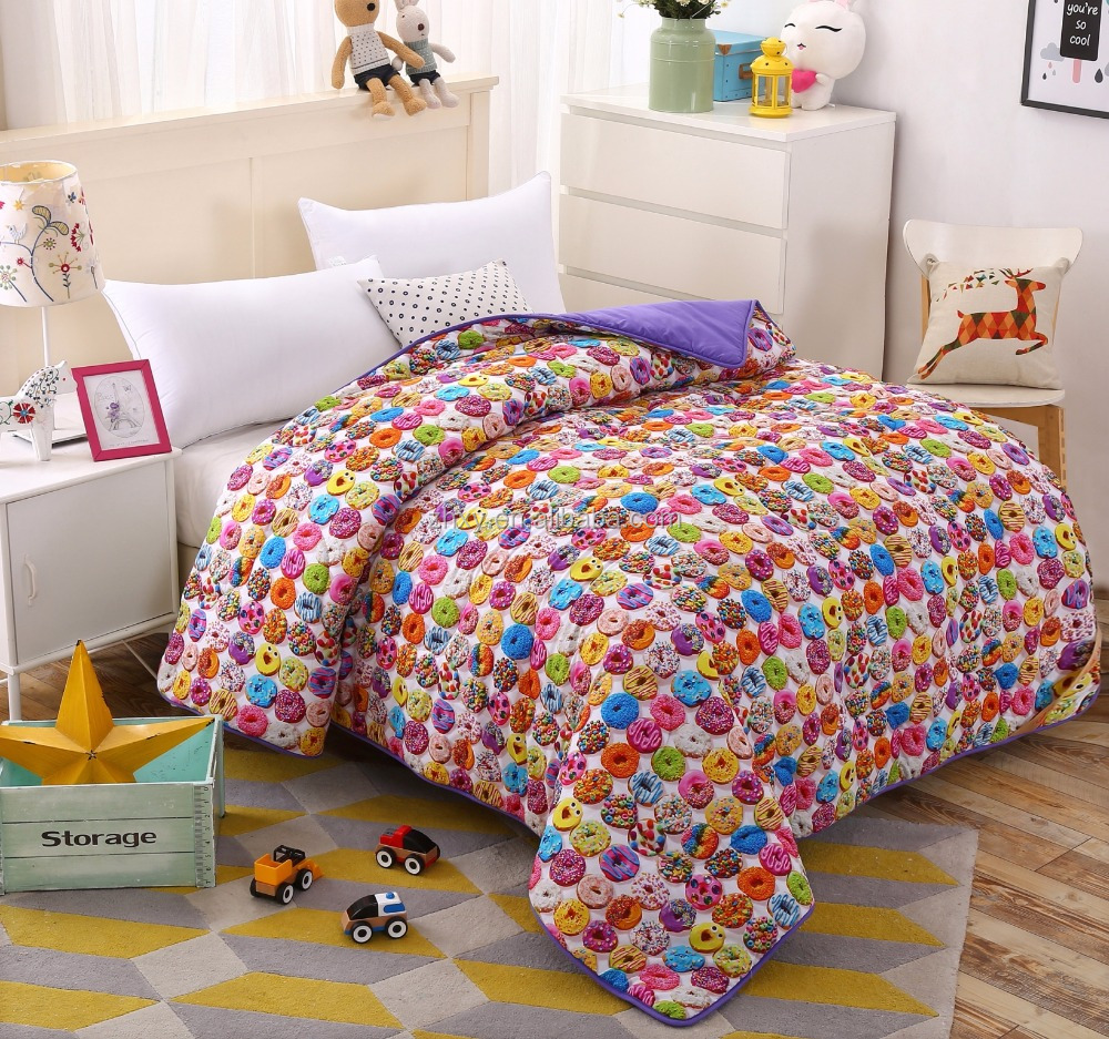 New products printed style comforter,super soft quilt,washable comforter