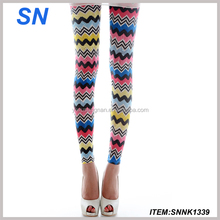 wholesale custom chevron printed leggings fashion