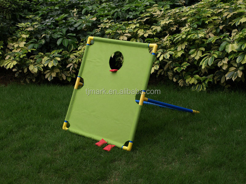 Hot sale 2 in 1 game set plastic bean bag toss & ladder ball